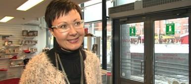 Sanna Kärkkäinen says this February is one of the busiest on record for Rovaniemi businesses. (Uula Kuvaja / Yle)