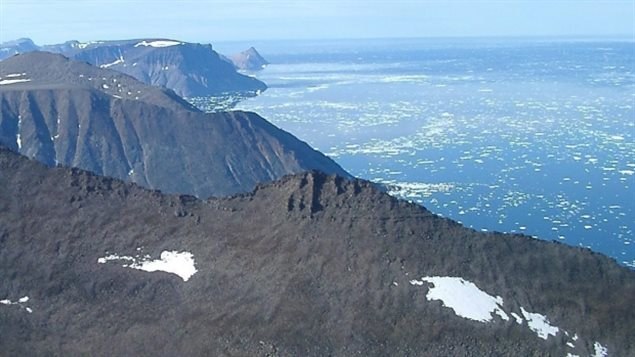 Cliffs along the east coast of Baffin Island. Seismic testing in the area is set to begin this year as soon as ice moves out. Inuit are fighting the testing saying it will disrupt marine life which they depend upon.  Photo Credit: The Canadian Press