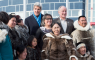 United States Secretary of State John Kerry, Canadian Minister for the Arctic Council Leona Aglukkaq, and Canadian Foreign Affairs Minister Rob Nicholson pose with Inuit wearing traditional dress at the Arctic Council Ministerial meeting Friday, April 24, 2015 in Iqaluit, Nunavut. Ministers from the eight Arctic nations and the leaders of northern indigenous groups form the Council. (Paul Chiasson/The Canadian Press)