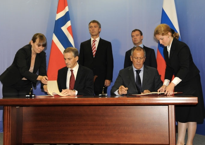 The signing of the delimitation agreement for the Barents Sea in September 2011 boosted optimism about joint Norwegian-Russian energy development in formerly disputed waters. (Jonas Karlsbak/Barents Observer)