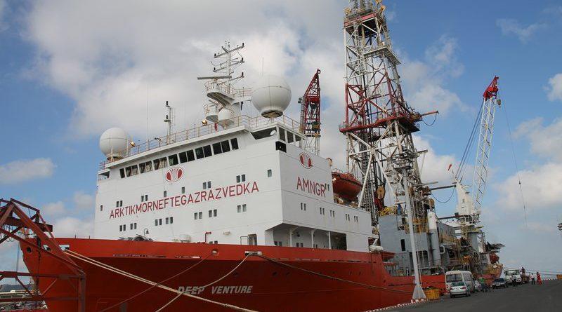Drilling vessel «Valentin Shashin» ,now Deep Venture. (Zarubezhneft)