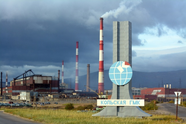 Norilsk Nickel's industrial complex in Monchegorsk on Russia's Kola Peninsula. (Thomas Nilsen/Barents Observer)