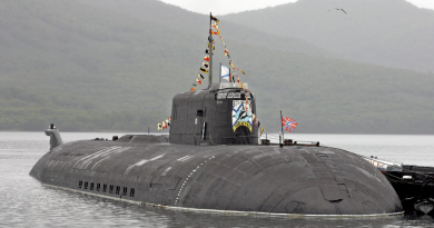 In this 2007 file photo the Vilyuchinsk submarine is moored at a harbor on the Pacific peninsula of Kamchatka. The Orel submarine, of the same type as the Vilyuchinsk, caught fire during repairs at the Zvezdochka shipyard in Severodvinsk, about 1000 kilometers (620 miles) north of Moscow on the White Sea. (AP)