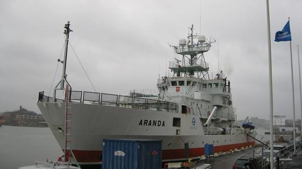 The research vessel Aranda in Gothenburg harbor. (Johan Bergendorff / Sveriges Radio)