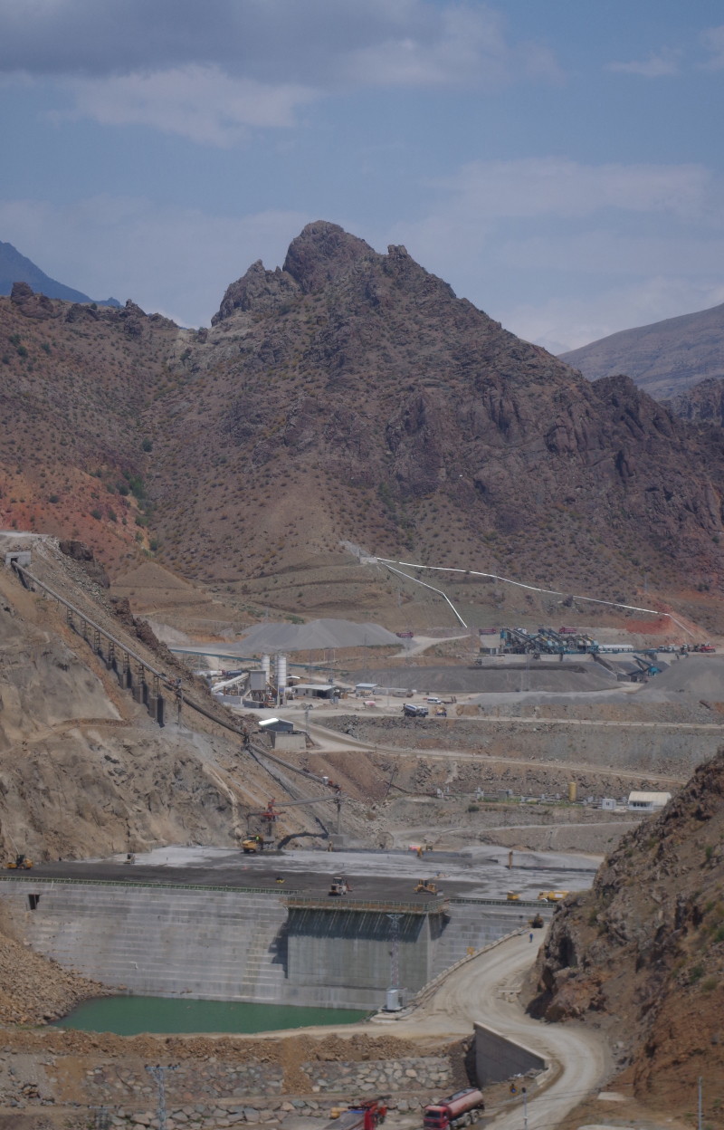 A dam in Turkey seen from the road between Kars and Hopa, Turkey.  (Mia Bennett, 2013)
