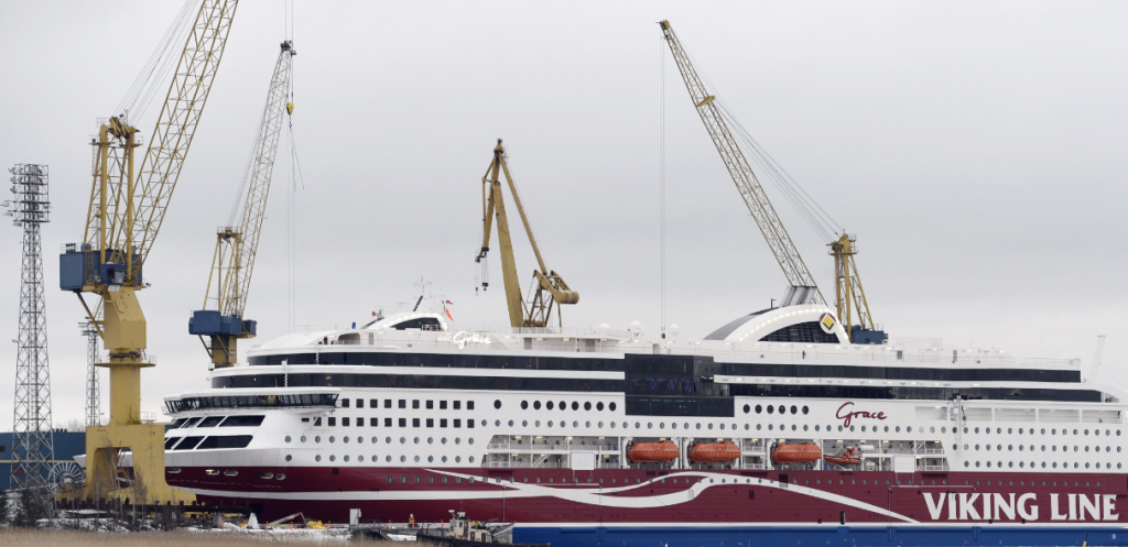 The ferry M/S Viking Grace belonging to Finnish cruise company Viking Line. (Heikki Saukkomaa/AFP/Getty Images)