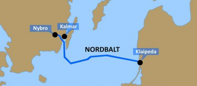 The Nordbalt submarine power cable between Klaipėda in Lithuania and Nybro in Sweden. (Nick Näslund/Swedish Radio)
