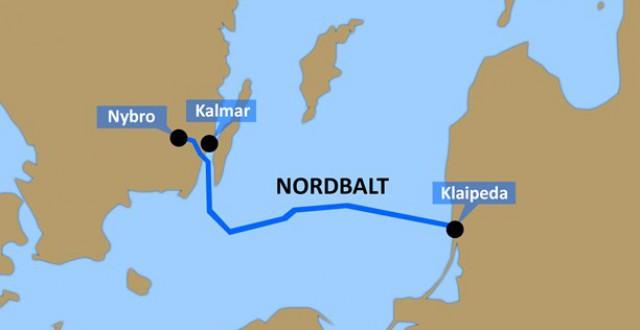 The Nordbalt submarine power cable between Klaipėda in Lithuania and Nybro in Sweden. (Nick Näslund/Swedish Radio)