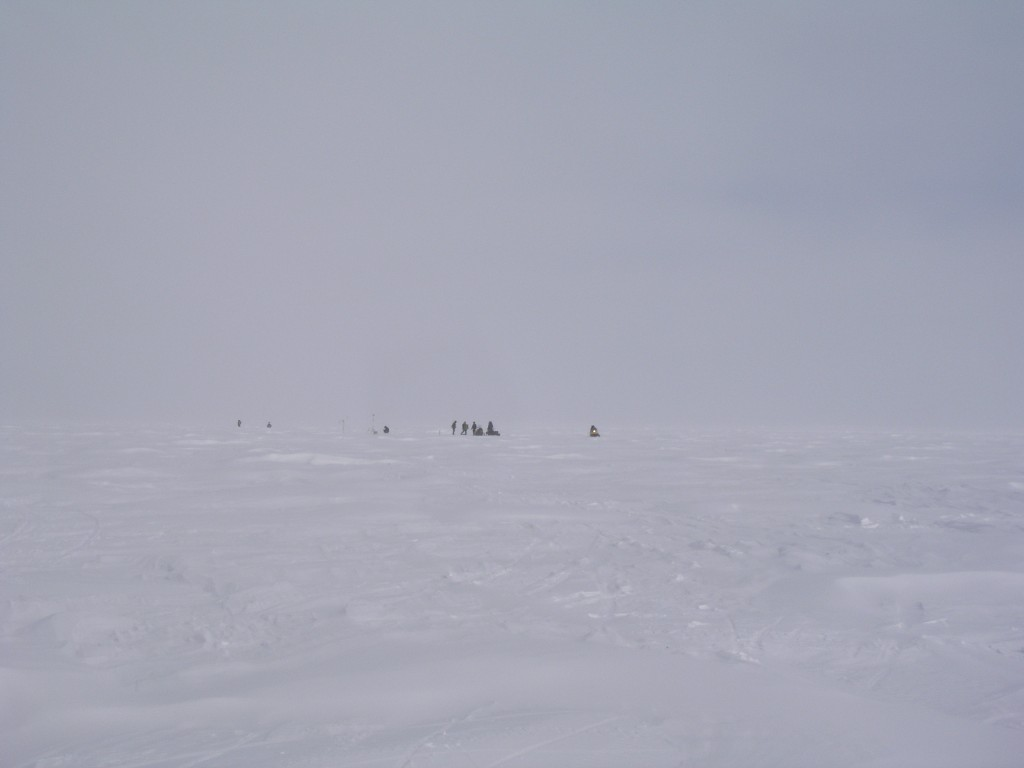 On the sea ice at Barrow, Alaska, 2008 (Irene Quaile/Deutsche Welle)