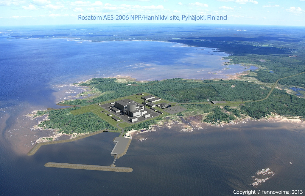 An image depicting the nuclear station that's under construction on the Hanhikivi peninsula near Raahe, Finland. (Fennovoima)