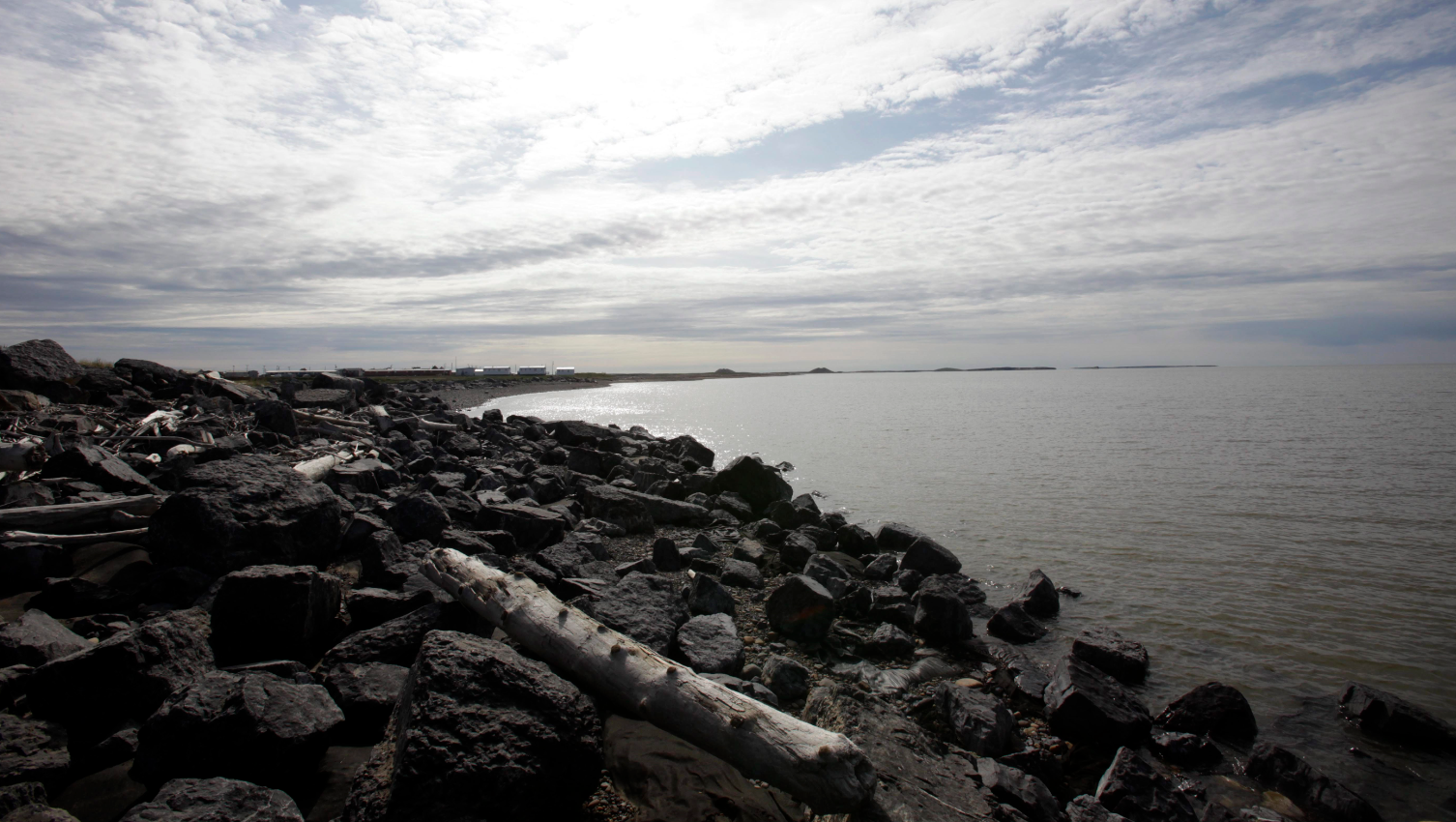 A view of the Beaufort Sea from the community of  Tuktoyaktuk in Canada's Northwest Territories. Imperial Oil's decision to delay drilling in the Beaufort was among your most read stories this week. (Rick Bowmer/AP)