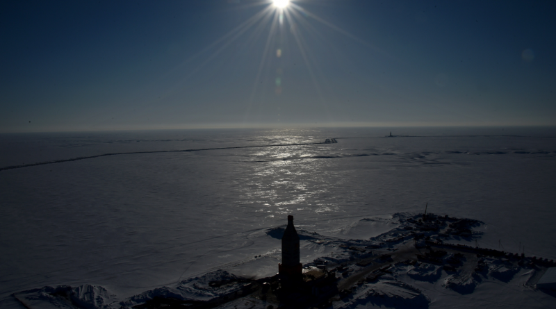 """The Kara Sea shore line on the Yamal Peninsula in the Arctic Circle. The nuclear powered icebreaker """"Yamal"""" recently travelled the Russian Arctic to conduct research operations, especially in Rosneft's license areas of the Kara Sea. (Kirill Kudryavtsev/AFP/Getty Images)"""