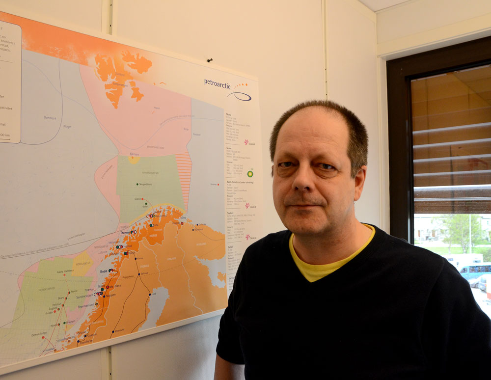 Rune Rautio believes China is interested in local port developments in Kirkenes and the projected railway line to Rovaniemi. (Atle Staalesen/Barents Observer)