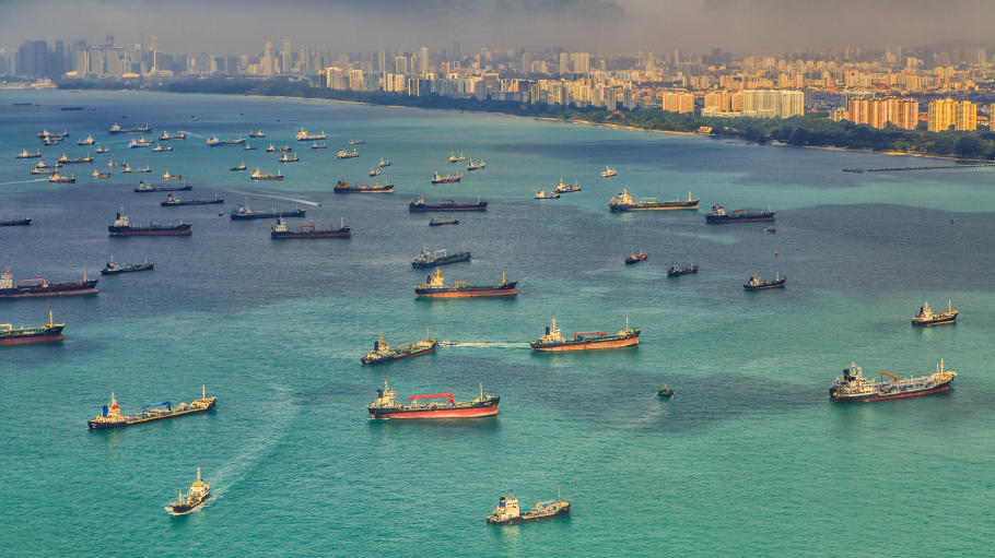 Cargo ships entering Singapore in 2014. What can other countries learn from Singapore's engagement with the Arctic? (iStock)
