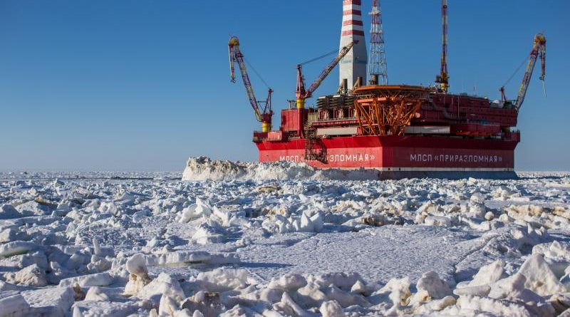 The Prirazlomnoye field is currently the only field on the Russian Arctic Shelf under development. (Gazprom Neft)