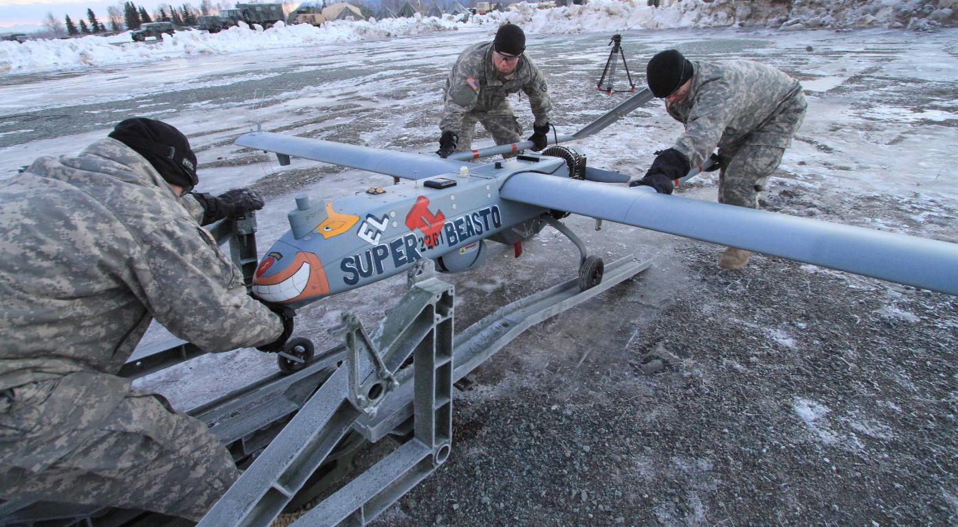 Soldiers at Joint Base Elmendorf Richardson in Anchorage, Alaska in 2014. (Dan Joling/AP)