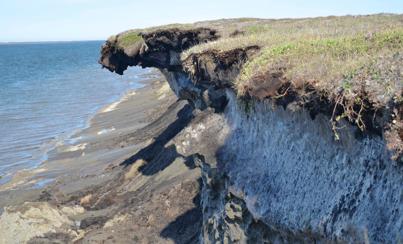 Erosion along the northern Alaska coast in Barter Island, Alaska in 2011. Erosion is eating away at Alaska's northern coast at some of the highest rates in the nation, threatening habitat and infrastructure, according to a new report published Wednesday, July 1, 2015. (Ben Jones/U.S. Geological Survey via AP)