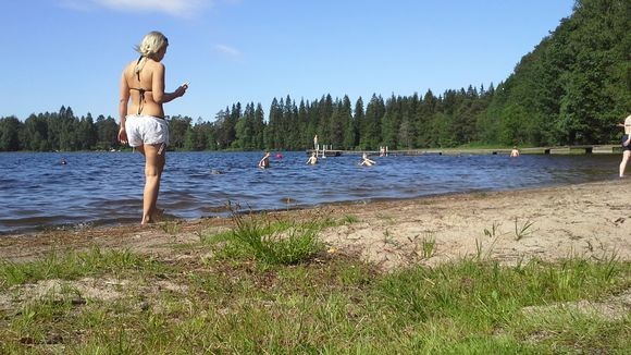 Beach days have been few and far between in Finland this summer. (Riina Kasurinen/Yle)