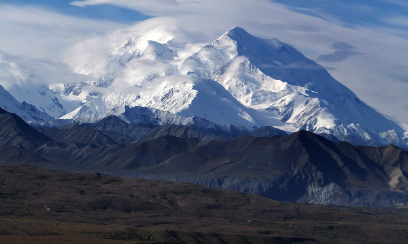 This Aug. 27, 2014 file photo shows Mount McKinley in Denali National Park and Preserve, Alaska. President Barack Obama on Sunday, Aug. 30, 2015 said he's changing the name of the tallest mountain in North America from Mount McKinley to Denali. (Becky Bohrer/ File / AP)
