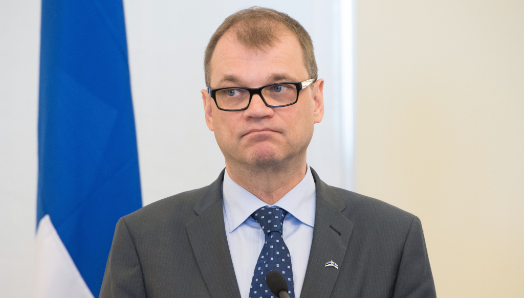 Finland's Prime Minister Juha Sipilä in June 2015. In an interview with the daily Finnish paper Keskisuomalainen, he said it's unlikely any new proposals for nuclear power plants would come up for consideration during the current government's term in office.(Raigo Pajula/AFP/Getty Images)