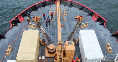 The U.S. Coast Guard icebreaker Healy off the shore of Nome, Alaska on July 20, 2015. (Kamala Kelkar / Alaska Dispatch News)