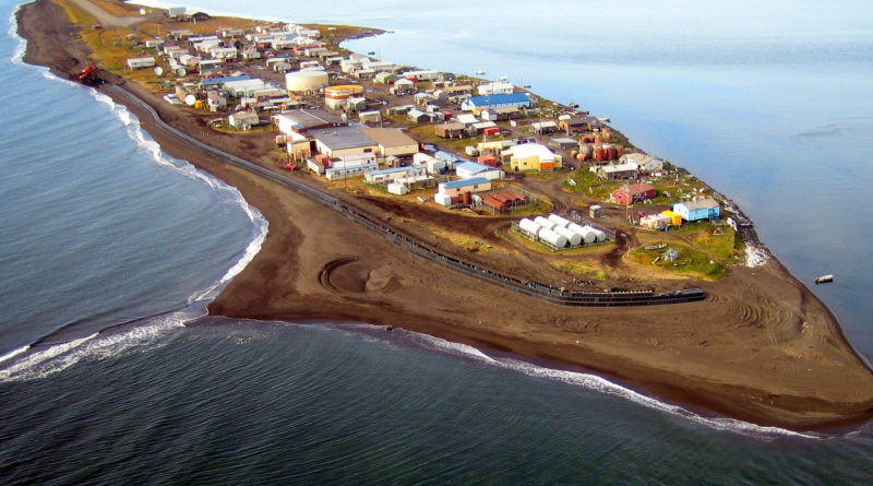 The village of Kivalina, Alaska. Will this be on of the stops on President Barack Obama's upcoming Arctic trip? (Northwest Arctic Borough via The Anchorage Daily News/AP)