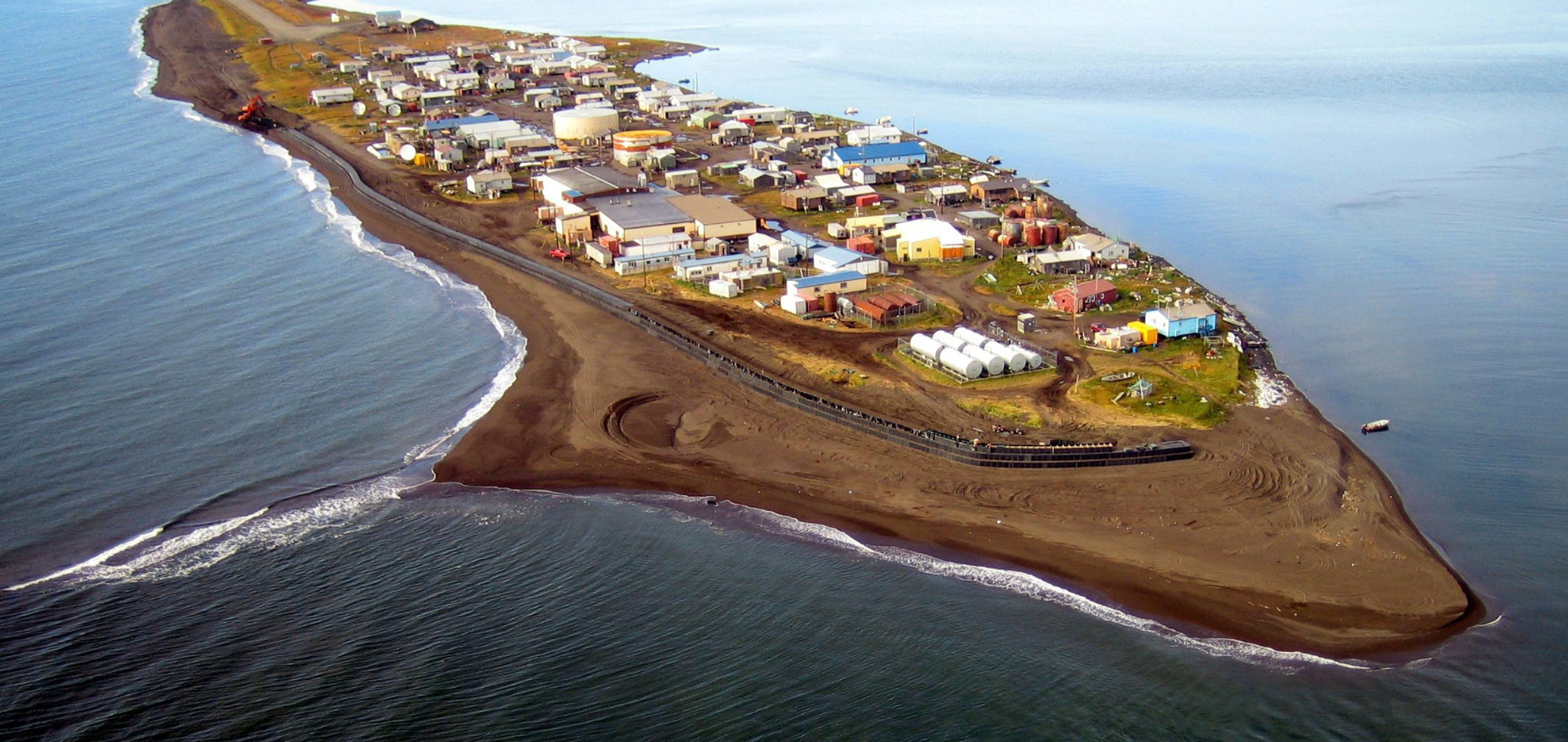 The village of Kivalina, Alaska. Will this be one of the stops on President Barack Obama's upcoming Arctic trip? (Northwest Arctic Borough via The Anchorage Daily News/AP)