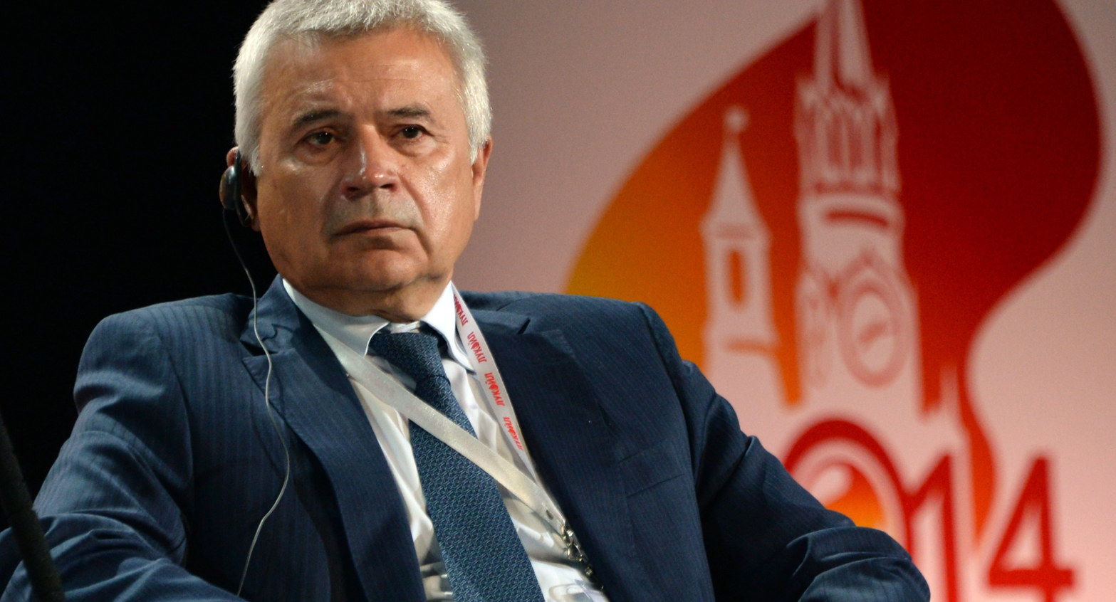 LUKoil president Vagit Alikperov, attends a plenary session of the World Petroleum Congress in Moscow, on June 16, 2014. (Vasily Maximov/AFP/Getty Images)