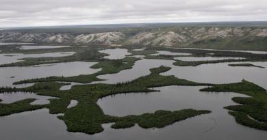 The Mackenzie River Delta, in Northwest Territories, Canada, is shown. (Rick Bowmer/AP)