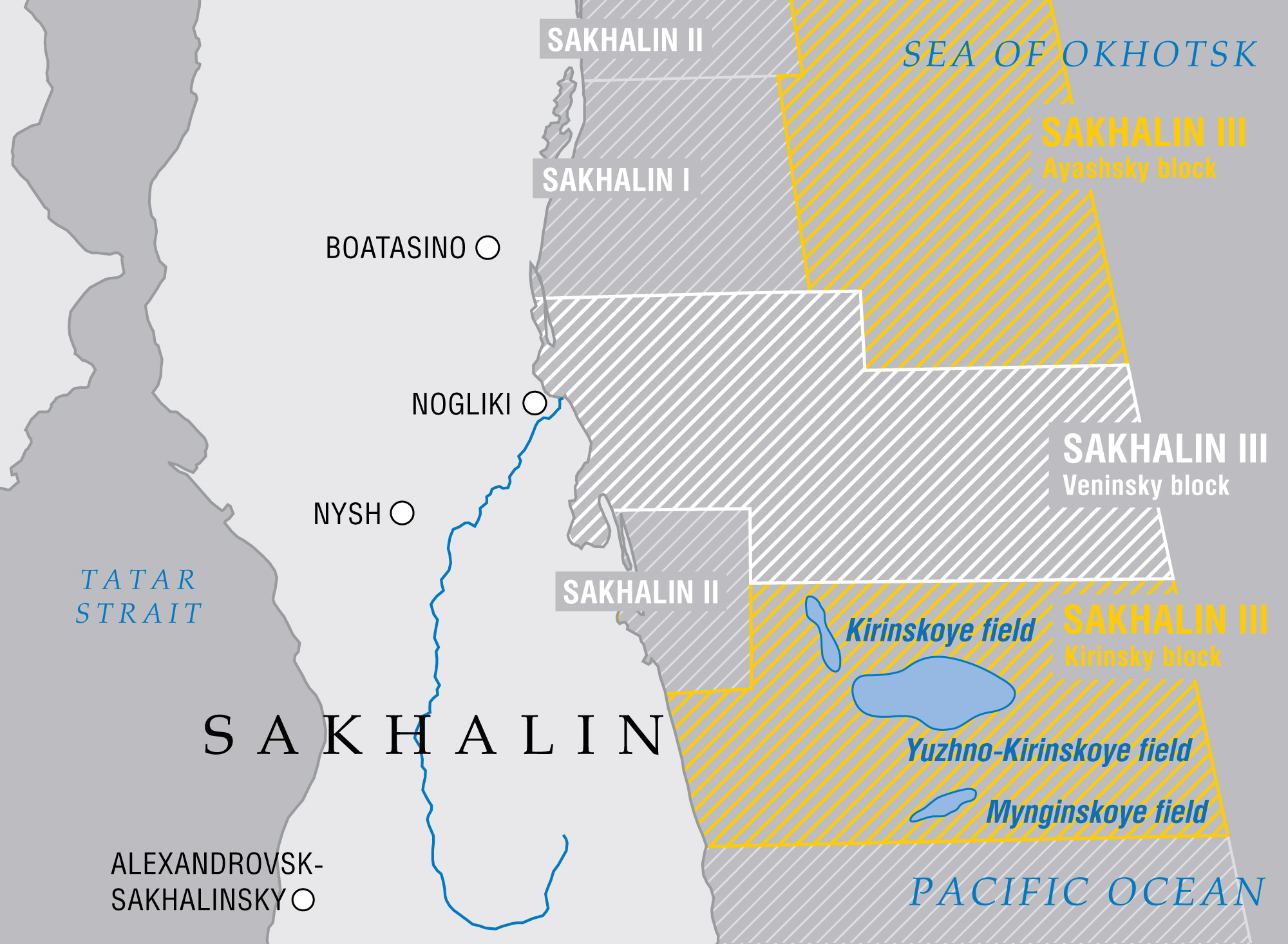 Kirinsky block fields within Sakhalin III project. (Gazprom)