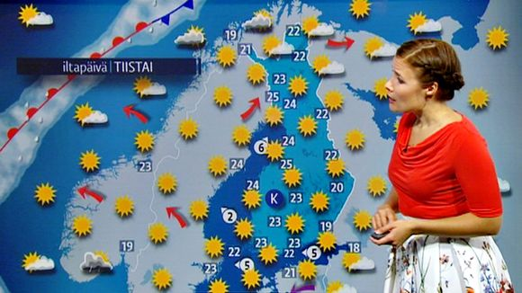 An official hot day in Finland is when the temperature reaches 25 degrees and it looks like Lapland may reach that today. (Yle)