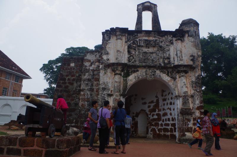 A Famosa, the old Portuguese fort in Melaka, Malaysia. (Mia Bennett)