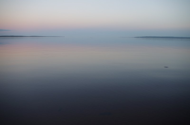 Around 10:30 pm on Lake Onega, where the Baltic-White Sea Canal ends. August 2015. (Mia Bennett)