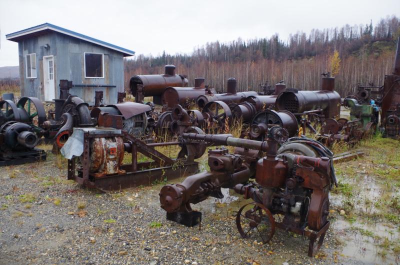 Old mining equipment now sitting unused. (Mia Bennett)