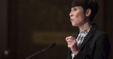 Norway's new F-35s, which will be based just south of the Arctic Circle, are key to strengthening the country's military capabilities, says Norwegian defense minister Ine Eriksen Soreide (pictured above during a speech at  Georgetown University in Washington, DC in 2014.  (Jim Watson/AFP/Getty Images)