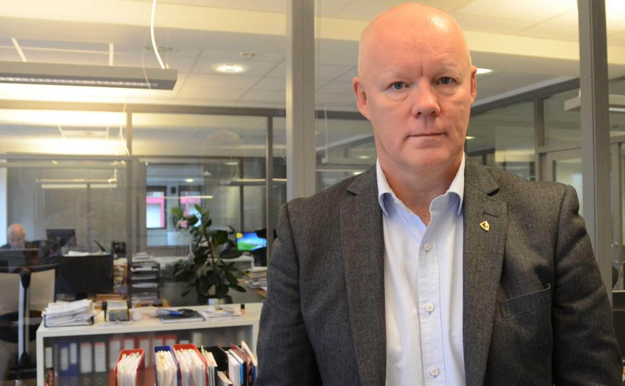 Board Chairman Stig Olsen does not want to comment on fhe dismissal of Editor Thomas Nilsen. (Atle Staalesen / Barents Observer)