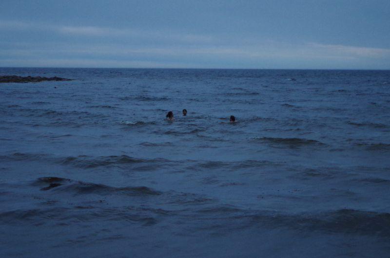 Swimming in the White Sea off Solovki. (Mia Bennett)