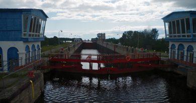 Locks on the White Sea-Baltic Canal. (Mia Bennett)