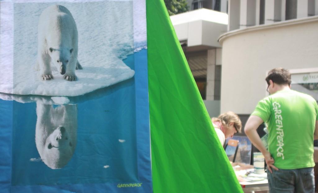 Greenpeace Arctic protest in Bonn. (Irene Quaile/Deutsche Welle)