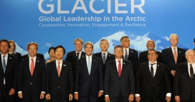 Secretary of State John F. Kerry poses with delegates prior to the Global Leadership in the Arctic: Cooperation, Innovation, Engagement, and Resilience (GLACIER) Conference at the Dena'ina Center in Anchorage on Monday, Aug. 31, 2015. The GLACIER Conference has already raised U.S. awareness of the nation's role in the Arctic, a top State Department official said Monday. Arctic Council delegates will meet in Anchorage this week. (Bill Roth / Alaska Dispatch News)