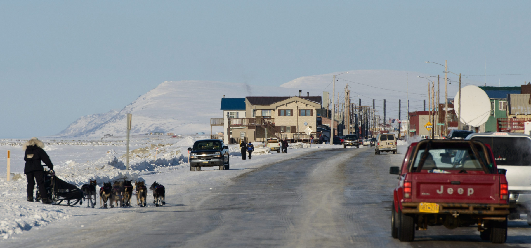 Front Street in Nome, Alaska in March 2015. Nome had been identified as a good option for a deep-water port. (Marc Lester/Alaska Dispatch News/AP)