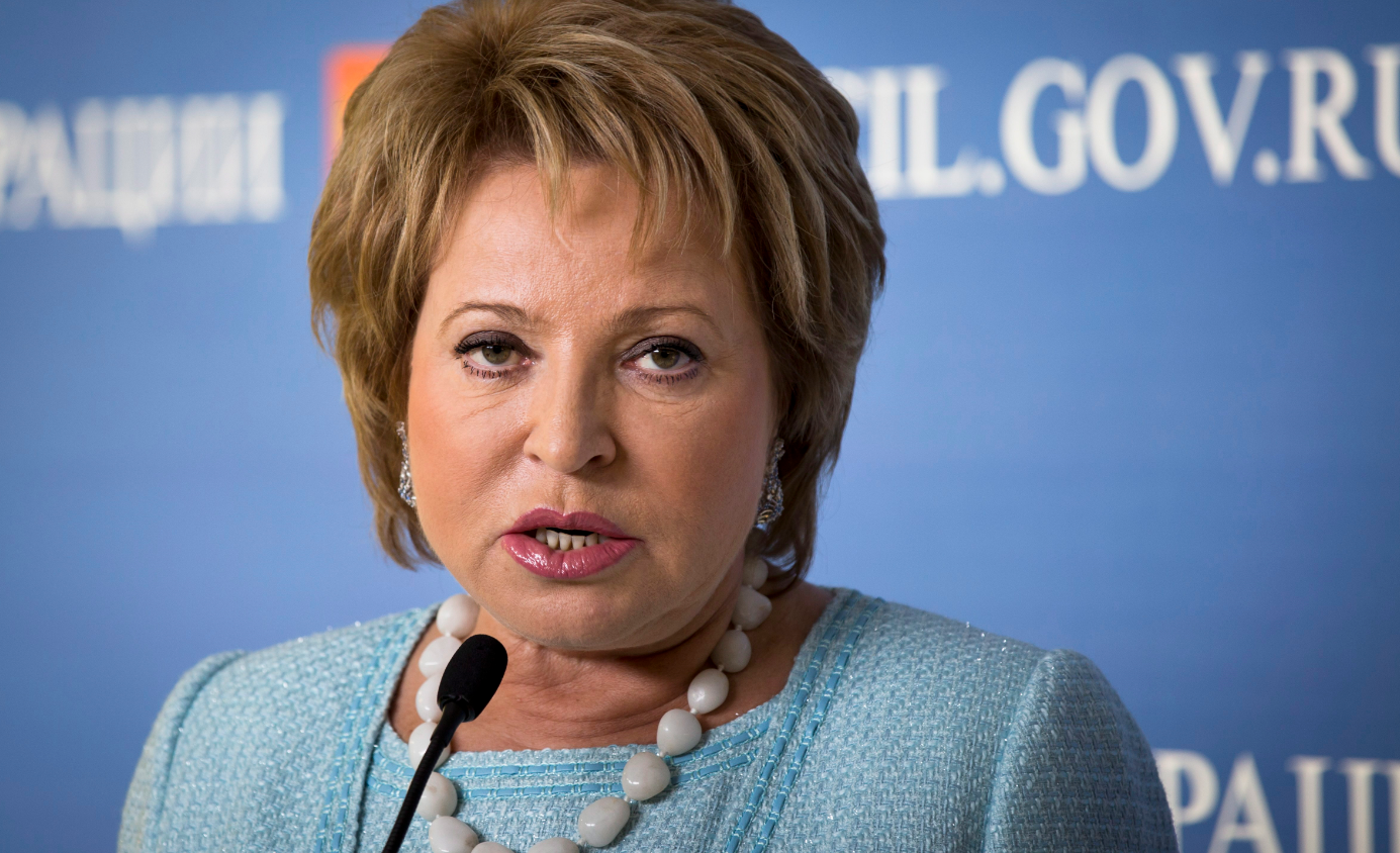 Valentina Matviyenko, chair of the upper house of the Russian Parliament, is a target of EU sanctions. But she was accidentally invited to this week's Barents conference in Helsinki. ( Alexander Zemlianichenko/AP)