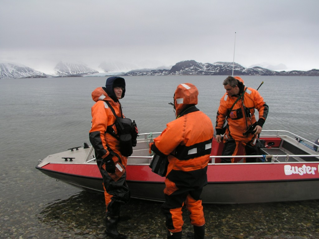 Scientists set out to check impact of sedimentation, here from Spitsbergen. (Irene Quaile)