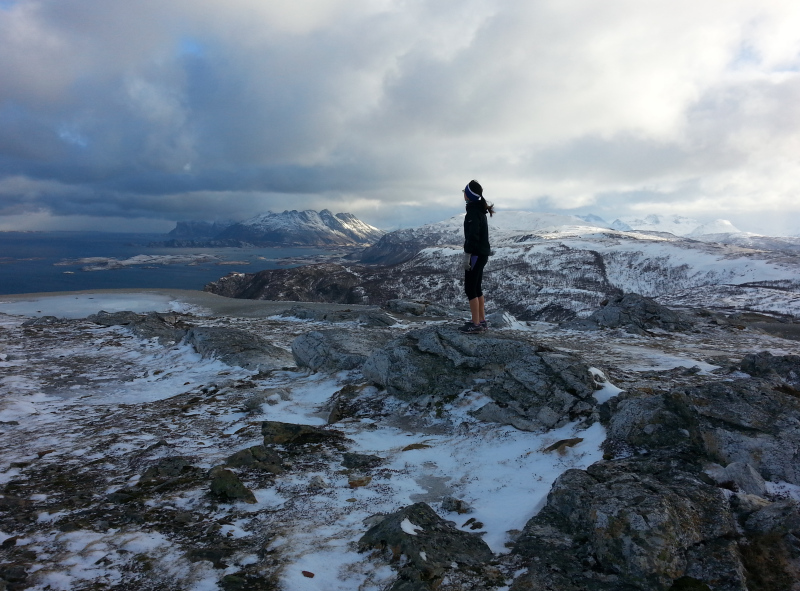 The destination of a morning run outside Bodø, Norway. March 2015. (Mia Bennett)