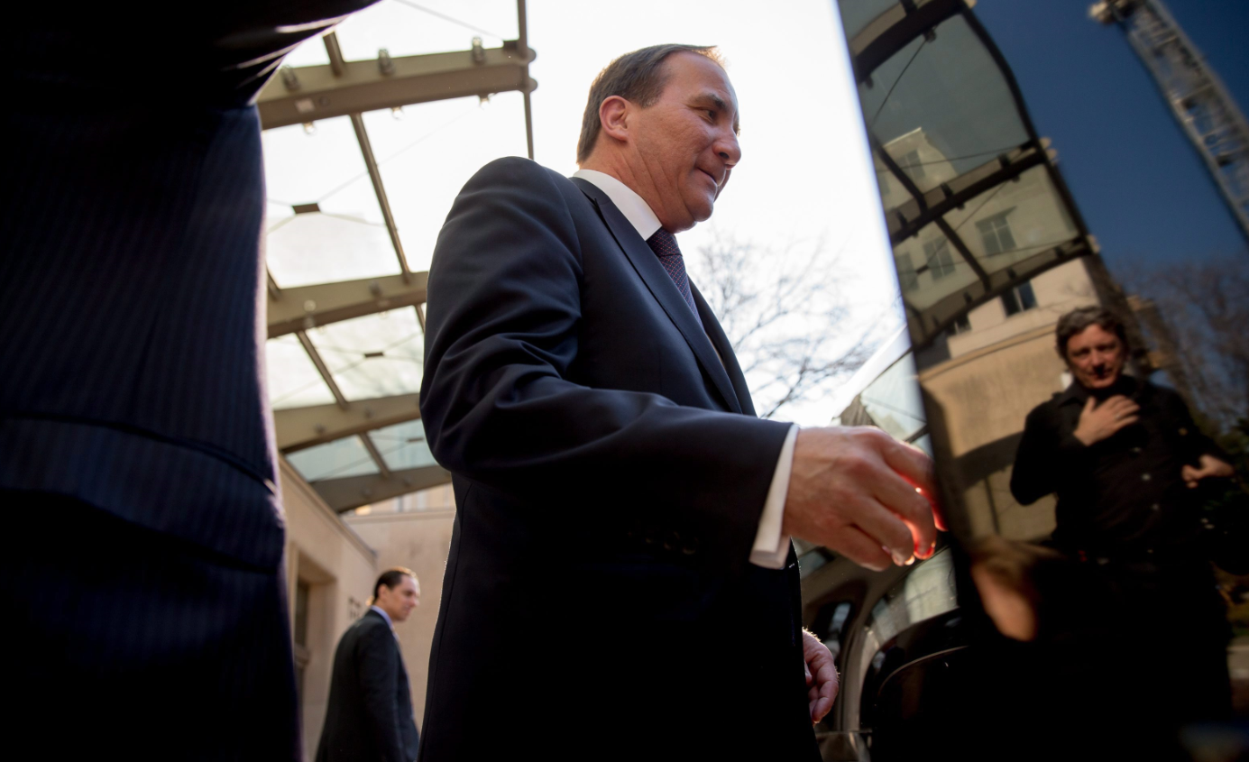 Sweden Prime Minister Stefan Löfven (pictured above in Washington in March 2015) told the UN climate change conference that it's up to richer nations to lead the way and show solidarity. (AP Photo/Andrew Harnik)