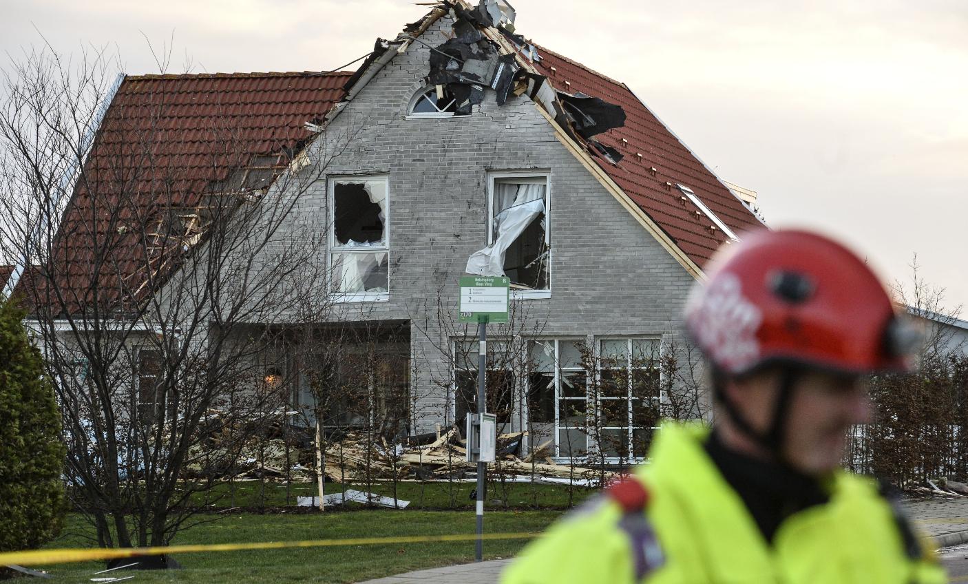 A house damaged by storm Gorm in Helsingborg Sweden on November 30, 2015. (Johan Nilsson/TT/AFP/Getty Images)