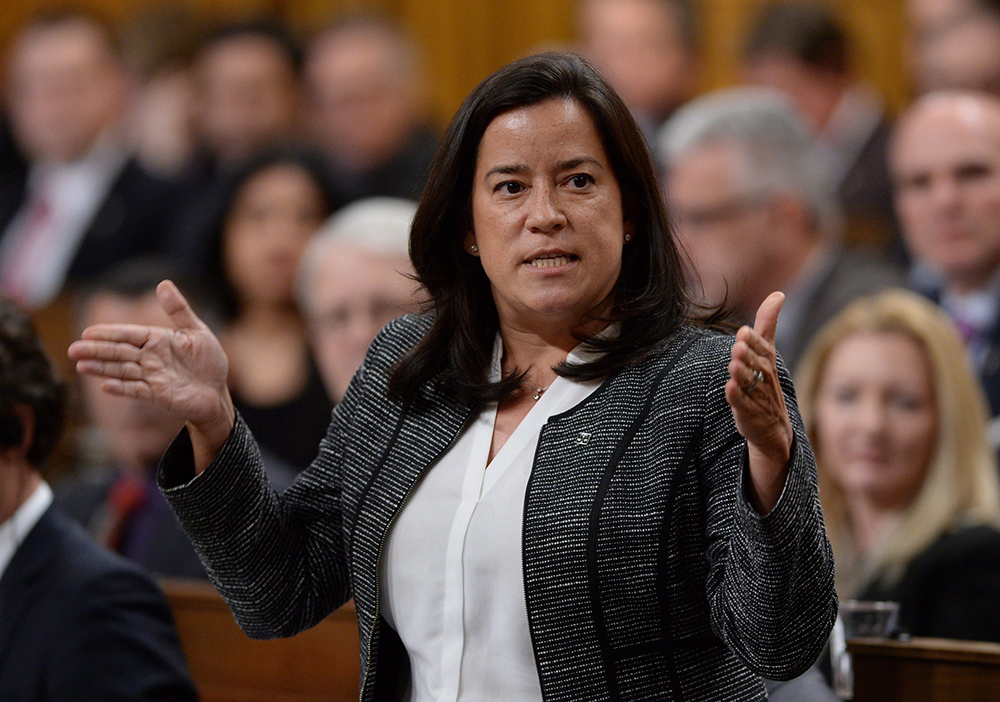 Minister of Justice and Attorney General of Canada Jody Wilson-Raybould responds to a question during question period in the House of Commons on Parliament Hill in Ottawa on Monday, Feb. 22, 2016. THE CANADIAN PRESS/Sean Kilpatrick