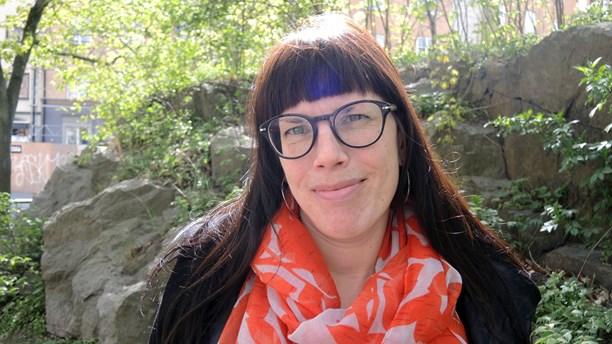 Kaisa Huuva, co-editor of a book from the Swedish Church. (Olle Kejonen / SR Sameradion)