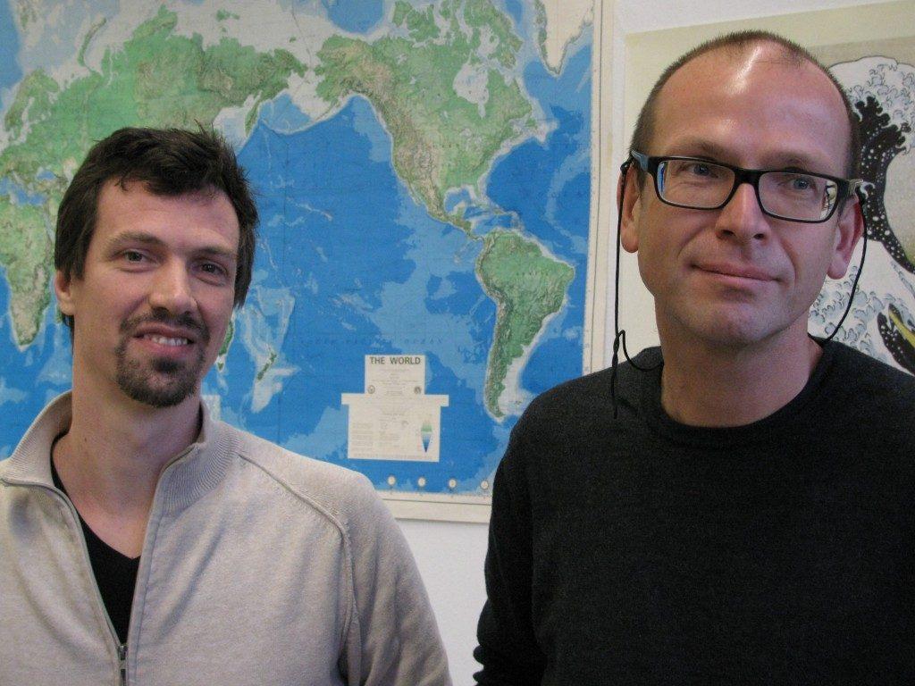 Roelof Riebroek and Jürgen Kusche, University of Bonn. (Irene Quaile)