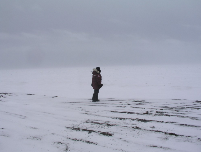 Visit to the site of a lost Inupiat village at Point Barrow, 2008. (Irene Quaile)